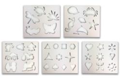 Carnet de pochoirs - 38 motifs - Pochoirs Nature – 10doigts.fr - 2
