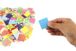 carrés de papier glacé