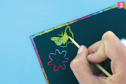 Peinture à gratter - 125 ml - Cartes à gratter – 10doigts.fr - 2