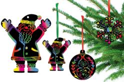 Carte à gratter : motifs Noël