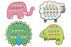 Cartes à tisser animaux terrestres- Set de 6 - Kits activités d'apprentissage – 10doigts.fr - 2