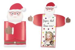 """Cartes de vœux Père-Noël """"câlin"""" - Lot de 6 - Carterie – 10doigts.fr - 2"""