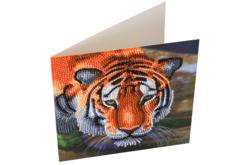 Broderie diamant Tigre - Carte 18 x 18 cm - Broderie Diamant – 10doigts.fr - 2