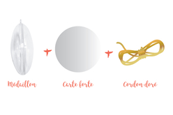 Médaillon plat 3 en 1 à suspendre - Plastique Transparent – 10doigts.fr - 2