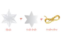 Étoile 3 en 1 à suspendre - Plastique Transparent – 10doigts.fr - 2