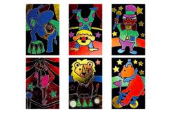 Cartes à métalliser Cirque - 6 cartes assorties - Kits créatifs en Papier – 10doigts.fr - 2