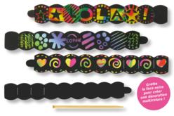 Bracelets en carte à gratter + grattoirs - 4 pcs - Cartes à gratter – 10doigts.fr - 2
