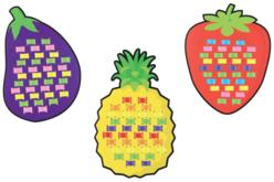 Cartes à tisser fruits et légumes - Set de 12 - Kits activités d'apprentissage – 10doigts.fr - 2
