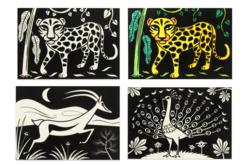 Cartes coloriages velours animaux - 8 cartes - Supports pré-dessinés – 10doigts.fr - 2