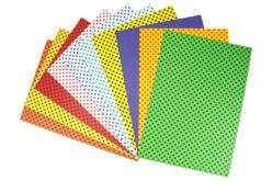 Papier épais 23 x 33 cm  - 40 feuilles assorties - Papiers motifs géométriques – 10doigts.fr - 2