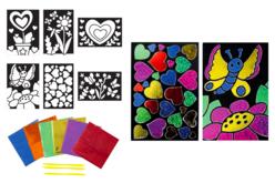 Cartes à métalliser Nature et coeurs - 6 cartes assorties - Kits créatifs en Papier – 10doigts.fr - 2