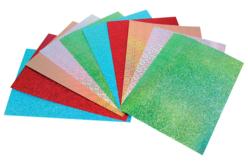 Papier épais couleurs holographiques - 10 feuilles Format A4 - Papiers à effets – 10doigts.fr