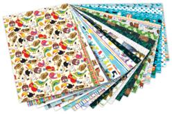 Papiers motifs enfantins 24 x 34 cm - 20 feuilles - Papiers couleurs – 10doigts.fr
