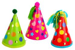 Cônes en carte forte - 6 couleurs assorties - Mardi gras, carnaval – 10doigts.fr - 2