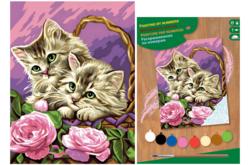 Tableau peinture au Numéro - Chatons - Peinture par numéros – 10doigts.fr
