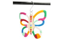 Suspension papillon en bois pour foulards et cravates - Porte-manteaux et patères – 10doigts.fr - 2