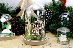 Cloche transparente avec socle en bois - Décorations de Noël en bois – 10doigts.fr - 2