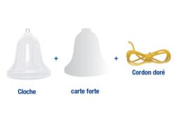 Cloche en plastique à suspendre - Formes à garnir – 10doigts.fr - 2