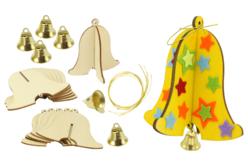 Cloches en bois à monter - Lot de 6 - Kits activités Pâques – 10doigts.fr
