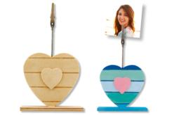 Coeur avec pince en métal : marque-place, porte-photo ou note