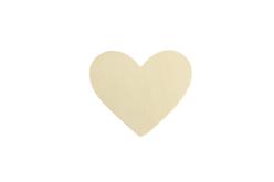 Coeur en bois naturel - Lot de 10 - Motifs bruts – 10doigts.fr - 2