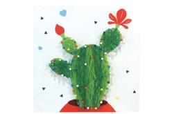 Coffret String art cactus 21 x 21 cm