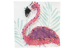 Coffret String art Flamant rose - String Art – 10doigts.fr - 2