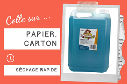 Colle Bleue pour papier - Sans solvants - Colles scolaires – 10doigts.fr