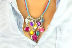 """Collier """"pierres précieuses"""" - Kit pour 1 collier - Bijoux, bracelets, colliers – 10doigts.fr - 2"""