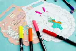 Cahier de coloriage Animaux rigolos - Supports pré-dessinés – 10doigts.fr - 2
