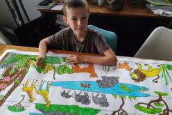 Fresque géante à colorier : Savane Africaine - Supports pré-dessinés – 10doigts.fr - 2