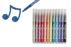 Feutres à paillettes - 12 couleurs - Feutres Fantaisie – 10doigts.fr