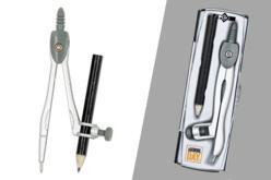 Compas en acier + crayon - Gomme, Taille-crayon, règle... – 10doigts.fr