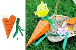"""Pochettes surprises """"Carotte"""" - Lot de 4 - Kits activités de Pâques – 10doigts.fr"""