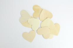 Coeurs en bois naturel - Motifs bruts – 10doigts.fr - 2
