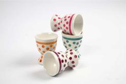 Coquetiers en porcelaine - 12 pièces - Supports en Céramique et Terre Cuite – 10doigts.fr - 2