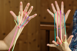 """Jeu de ficelle - 6 cordes couleurs """"SHINY"""" - Jeu de ficelle – 10doigts.fr - 2"""