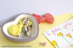 Coupelles coeur en terre cuite blanche - Lot de 4 - Supports en Céramique et Terre Cuite – 10doigts.fr - 2