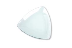 Coupelle incurvée triangulaire en verre