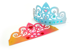 Couronnes diadème de princesse + strass - Lot de 6 - Mardi gras, carnaval – 10doigts.fr - 2