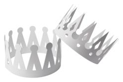 Couronnes en carte forte blanche - Set de 12 - Mardi gras, carnaval – 10doigts.fr - 2