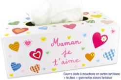 Couvre-boîte à mouchoirs - Boîtes en carton – 10doigts.fr