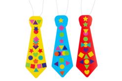 Cravates + gommettes colorées - 6 cravates - Kits activités Carnaval – 10doigts.fr - 2