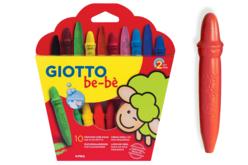 Crayons cire incassables Giotto Bé-bé + taille-crayons - Crayons cire – 10doigts.fr - 2