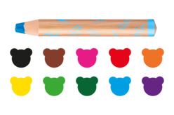Maxi crayons Carioca Baby - 10 crayons - Crayons de couleurs – 10doigts.fr