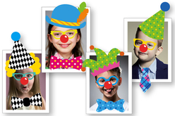 """Crazy Stickers """"Déguise-toi en clown"""" - 208 stickers - Stickers Fantaisies – 10doigts.fr - 2"""