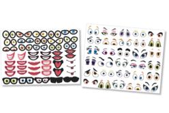 Crazy Face Stickers - 150 Stickers - Gommettes Yeux et Visages – 10doigts.fr - 2