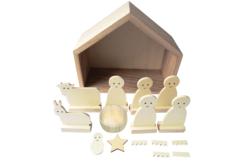 Crèche en bois - 18 cm - Supports de Noël en bois – 10doigts.fr - 2