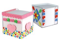 Cube à notes 9.5 cm - Pense-bête – 10doigts.fr - 2