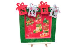 """Cadeaux """"NOEL"""" en bois naturel - Set de 4 - Décorations de Noël en bois – 10doigts.fr - 2"""